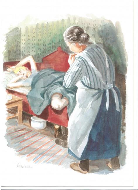 Akvarell av Björn Gidstam. Ingår i den ursprungliga publiceringen.