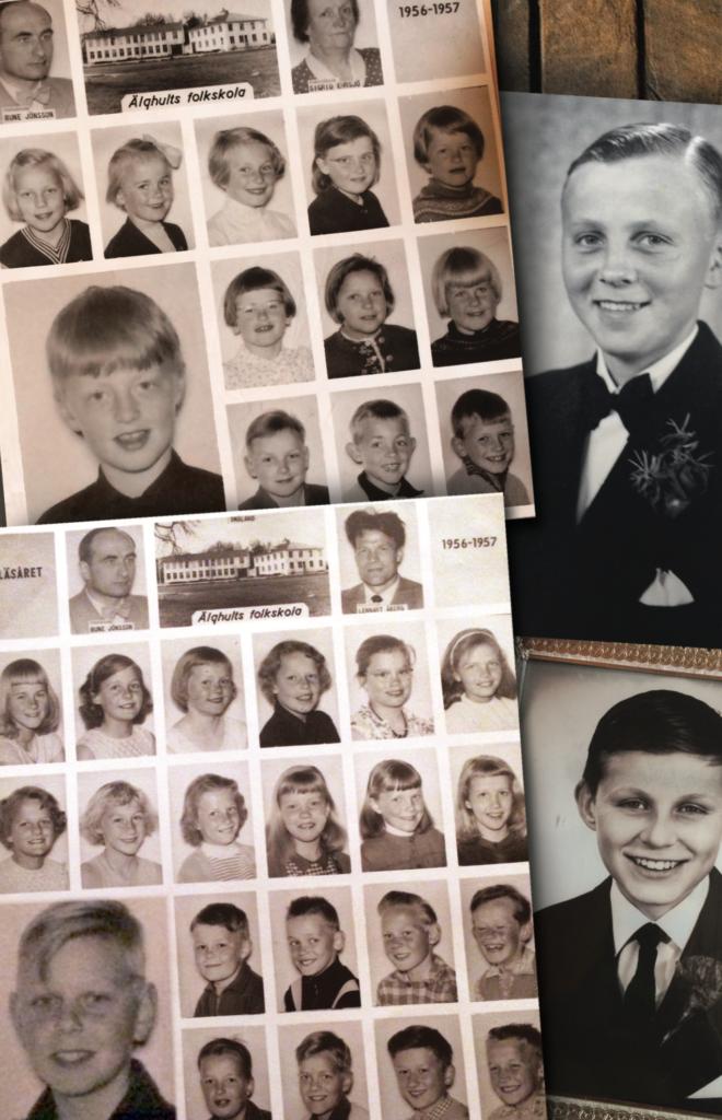 Återvändare! Fyra 40-talister, skolkamrater, vänner, grannar... Rune Ivarsson (1940), Kenneth Eklöv (1947), Conny Rosander (1949) och Evald Gunnarsson (1949). Foto: Privat