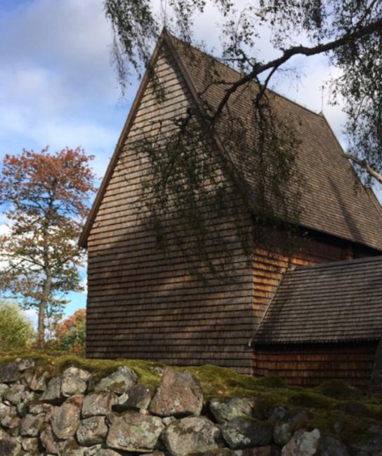Granhults medeltida kyrka tillhör Växjö stift. Analys av timret säger att kyrkan sannolikt är byggd på 1220-talet