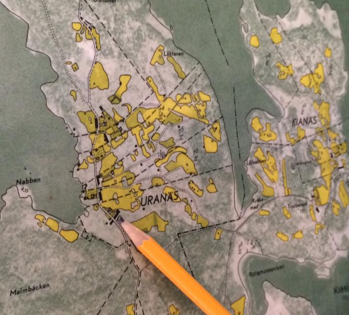 Uranäs-karta