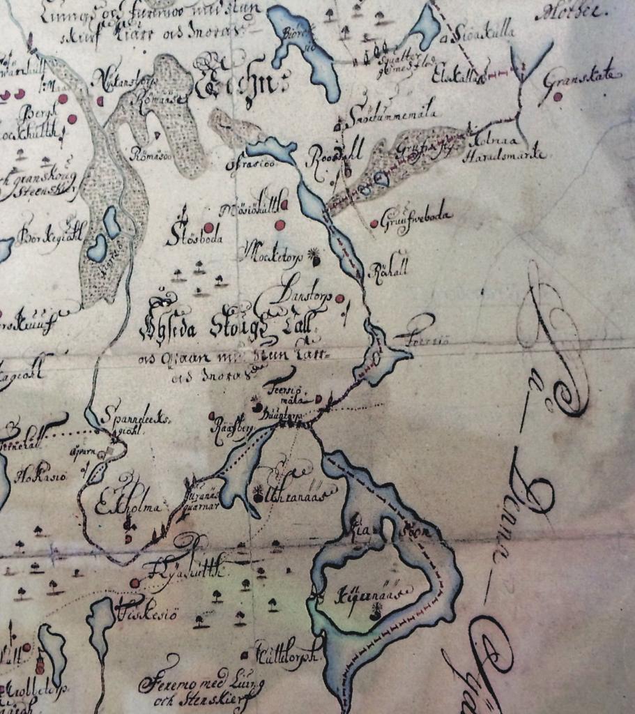 Uranäs dskarta från 1689